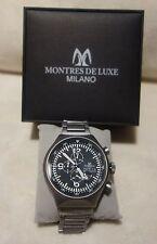 Montres De Luxe Milano Men's Type 12 Black_Grey All-Aluminum Chrono watch NEW