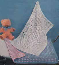 2 Baby Shawls/Pram Covers. Crochet Pattern. DK Wool.