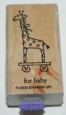 GIRAFFE TOY FOR BABY DOUBLE MOUNTED STAMPIN UP WOOD MOUNT RUBBER STAMP