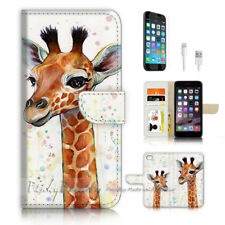 ( For iPhone 8 ) Wallet Case Cover P3529 Giraffe