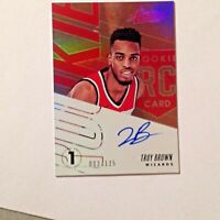 2018-19 Absolute Rookie Signatures Troy Brown Jr. Rc Auto #3/125 On Card Wizards