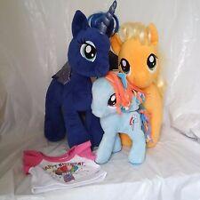 My Little Pony Lot 3 Plush Build a Bear Apple Jack Princess Luna Rainbow Dash