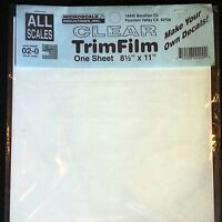 "Microscale Decal Paper Clear Trim Film Water-Slide 8.5"" x 11"" (3 Pack) 02-0"