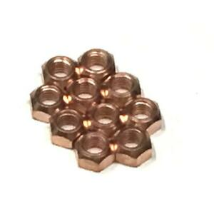 10x M8 Copper Flashed Exhaust Manifold 8mm Nut - High Temperature Nuts