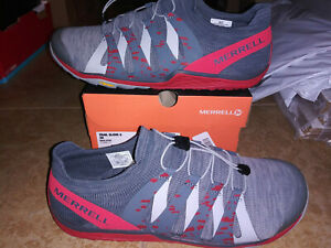 NEW $100 Mens Merrell Trail Glove 5 Running Shoes, sz 13     red grey