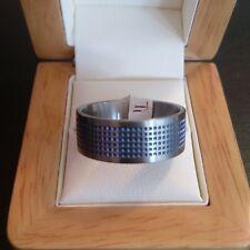 ***REDUCED*** Mens Titanium ring with Blue Squares Design