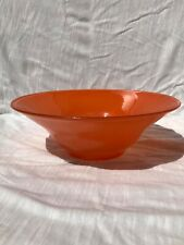 "Vintage Westmoreland Cased Orange Glass Serving/Mixing 10"" Bowl"