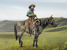 Andrea Miniatures montato vero cowboy 90 mm KIT non verniciata