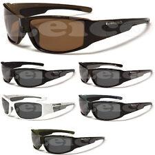 Biohazard Mens Polarized Fishing Golf Hunting Sport Sunglasses Black White Brown