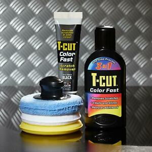 T-Cut 3in1 Color Fast Car Colour Restorer Polish Wax 500ml & Scratch Remover Kit