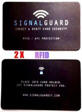 2X RFID Credit Card Wireless Illegal Blocker PLACE IN WALLET INSTANT PROTECTION