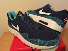 outlet store a32a0 9714f NEW US 10.5 NIKE AIR MAX 1 PREMIUM TAPE Brave Blue Summit Black 599514-410