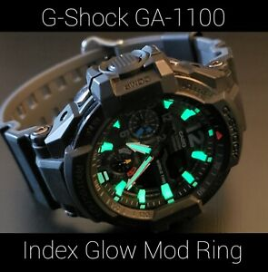 *WATCH PART FOR SALE* Casio G-Shock GA-1100 - Index Glow Mod Ring - Made In USA