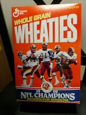 Unopened WASHINGTON REDSKINS 1992 NFL Champions Wheaties Box, Unopened