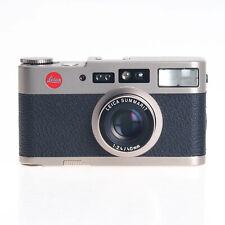 Leica Leitz Cm 35mm Film Compact Autofocus Rangefinder Camera With Brown Case