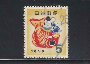 JAPAN 1958 FOR NEW YEAR 1959 (EBISU WITH BREAM) COMP. SET OF 1 STAMP FINE USED