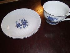 Royal Blue Ironstone Enoch Wedgewood, Tunstall, England- Tea Cup & Saucer Set