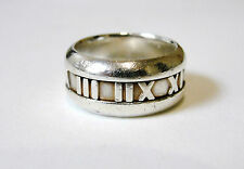Vintage Tiffany & Co 925 Sterling Silver ATLAS RING © 2003 Size 6 ~ 9.1 Grams