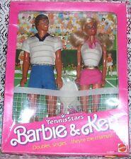 1988 Vintage Toys R Us Exclusive Tennis Stars Barbie & Ken Giftset Nib #7801