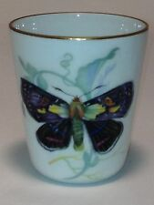 Colorful Monarch Butterfly With Gold Rim Cup_Chamart Limoges France