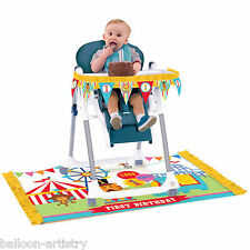 Fisher Price Circus Happy 1st Birthday Party High Chair Decorating Kit Pack