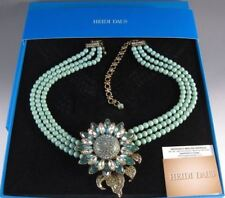 Heidi Daus Divine Miss Daisy 3 strand Turquoise Drop Necklace CRYSTALS BEAUTIFUL