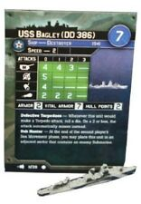 """Axis and Allies War at Sea """"Fleet Command"""" USS Bagley (11/39) Game Piece & Card"""