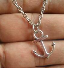 Woman Hottest Simple Anchor Infinity Charm Pendant Bid Alloy Necklace Silver