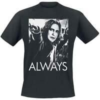 Official Licensed Harry Potter Snape Always Mens Black T-Shirt