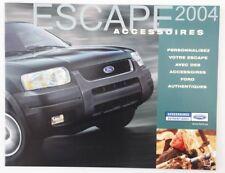 FORD ESCAPE 2004 Accessories dealer brochure catalog - French - Canada