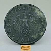 1940-B Germany 10 Pfenning, Free Shipping - #C17014