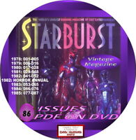 STARBURST MAGAZINE - 86 ISSUES - PDF ON DVD - SCIENCE FICTION, HORROR, ...