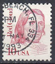 USA Briefmarke gestempelt 10c Red Cloud Rundstempel / 1647