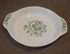 "CORELLE Coordinates STONEWARE 9"" Deep Dish PIE PLATE Handles CALLAWAY Green Ivy"