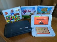 Nintendo 3DS XL Console - White - Bundle including Mario Kart + Zelda