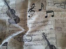 Dekostoff Geige Musik Baumwollmischung 100 x140 Meterware Stoffe