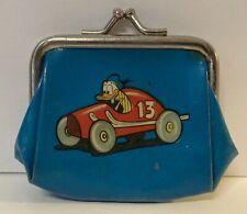 New ListingVintage Walt Disney Donald Duck Race Car Coin Change Purse Hewey Dewey Lewey