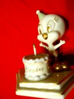 LENOX TWEETY'S BIRTHDAY  PORCELAIN TWEETY  BIRD FIGURINE WARNER BROS..