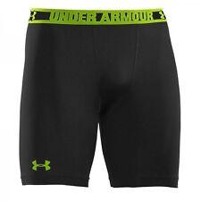 Mens Under Armour Compression Shorts - XL - Black & Green BNWT