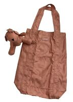 Authentic GUCCI GG Logo Tote Bag Eco Bag Mothers Bag with Stuffed Bear Rank AB