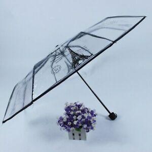 Three Folding Non-Automatic Umbrellas Sliding Function New Metal Pongee Umbrella