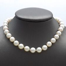 14K White Gold Lustrous Akoya Pearl Pink Hues Necklace 22 Inch
