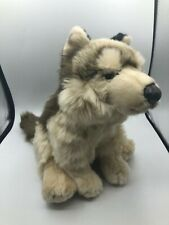 Hermann Teddy Collection Realistic Wolf Dog Pup Puppy Plush Stuffed Toy Animal