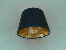 10'' Black Empire Lampshade Gold Lining Light Shade Handmade Table Lamp