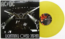 AC/DC - Lightning Over Japan LP YELLOW VINYL Live Tokyo 1981 Angus Malcolm Young