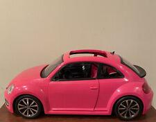 Barbie Vw Volkswagen Beetle Bug Car Hot Pink 2013 Mattel (Used)
