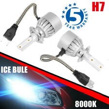 Pair H7 8000K Ice Blue 80000LM High Power CREE LED Headlight Kit Hi/Lo Beam