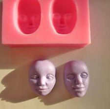 Silikonform Tortendeko Gießform Gesicht mold Fondant Fimo Schokolade Puppen Kopf