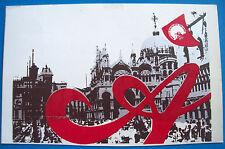 1977 CARTOLINA VIAGGIATA CONGRESSO NAZIONALE DEL P.S.I. A VENEZIA. SOCIALISMO