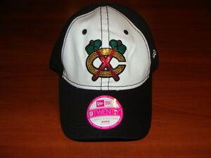 Chicago Blackhawks Cap Hat Ladies Women New Era Glitter Glam NHL Hockey Buckle